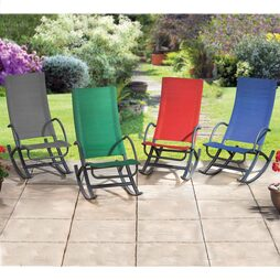 Garden Rocking Chair Green