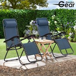 Garden Gear Zero Gravity Chair Navy 2 Pack