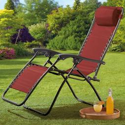 Garden Gear Zero Gravity Chair Red