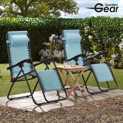 Garden Gear Zero Gravity Chair Blue 2 Pack