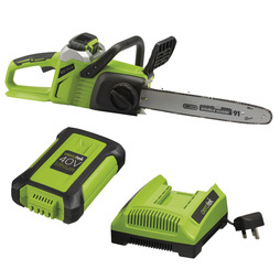 Aerotek 40V Cordless Chainsaw With Charger and Battery