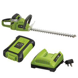 Aerotek 40V Cordless Hedge Trimmer With Charger and Battery