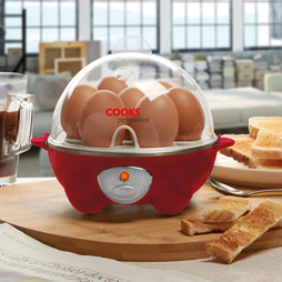 Cooks Professional Egg Boiler and Poacher Red