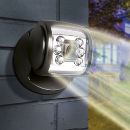 6 Led Porch Sensor Light Black