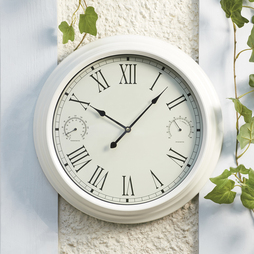Traditional Garden Wall Clock Cream