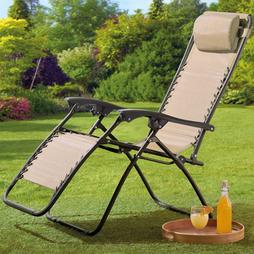 Garden Gear Zero Gravity Chair Cream