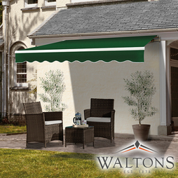 Easy Fit Garden Awning 295cm X 250cm Green