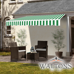 Easy Fit Garden Awning 295cm X 250cm Green And White