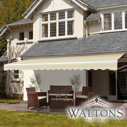 Easy Fit Garden Awning 350cm x 250cm Cream