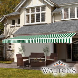 Easy Fit Garden Awning 350cm x 250cm Green And White