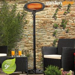 Garden Glow Floor Standing Patio Heater Graphite