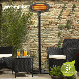 Garden Glow Floor Standing Patio Heater Graphite