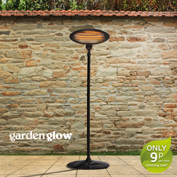 Garden Glow 2000W Floor Standing patio Heater Black