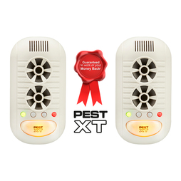 Pest XT 4in1 UltrasonicElectromagnetic Advanced Pest Repeller Twin Pack