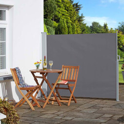 Retractable Garden Side Awning Grey 160x300cm