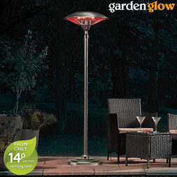 Garden Glow 2000W Standing Adjustable Halogen Patio Heater