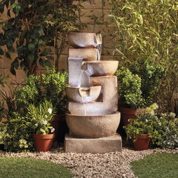 4 TIER LUGUNA CASCADE WATER FEAT WITH LIGHT