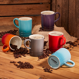 6 Piece MultiColour Mug Set