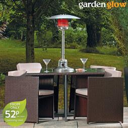 Garden Glow 4kW Table Top Gas Patio Heater