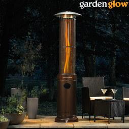 Garden Glow Circle Flame Gas Patio Bronze