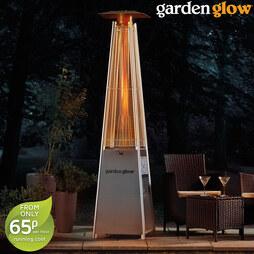 Garden Glow 13kW Square Flame Gas Patio Heater