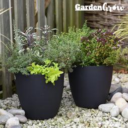 Garden Grow Set of 2 Self Watering Plant Pots