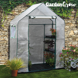 Garden Grow Premium Portable 6 Shelf Greenhouse