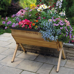 Grow Trug® by BVG Group Ltd Wooden Planter Large includes £25 worth of FREE seeds
