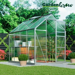 Garden Grow Deluxe Edition Greenhouse Silver