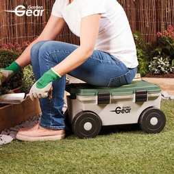 Garden Gear Rotating Kneeler and Tool Store