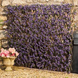 Artificial Purple Lavender Hedge Trellis 0.7x2m