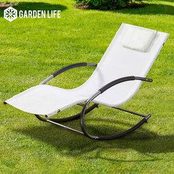 Garden Life Premium Zero Gravity Rocking Lounger Cream
