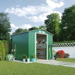 Light Green Waltons Apex 7 x 6.3ft Metal Shed