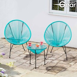 Garden Gear Leon String Bistro Set Black with cover