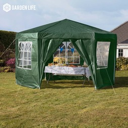 Hexagonal Party Tent Green