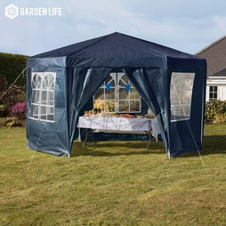 Hexagonal Party Tent Blue