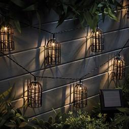 Solar Style Caged Solar Lights Birdcage