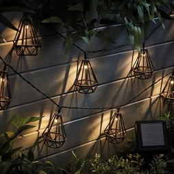 Solar Style Caged Solar Lights Diamond