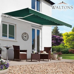 Waltons Easy Fit Half Cassette Awning Green 250 x 200