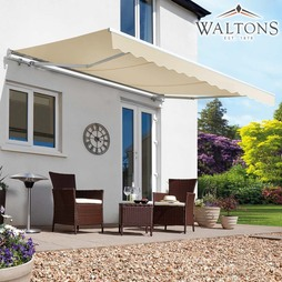 Waltons Easy Fit Half Cassette Awning Cream 300 x 250