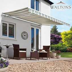Waltons Easy Fit Half Cassette Awning Multi Stripe 300 x 250