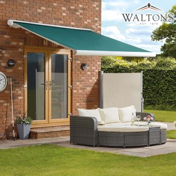 Waltons Easy Fit Full Cassette Awning 250x200 Green