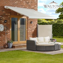 Waltons Easy Fit Full Cassette Awning 250x200 Cream