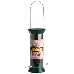 Droll Yankees Lifetime Niger Feeder Green 4 port