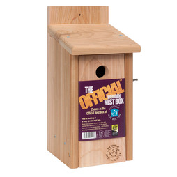 The Official Cedar Nesting Box, With 32mm hole