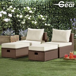 Lounge Set with Furniture Cover