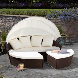 Garden Life Rattan Daybed 180cm Brown