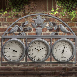Garden Wall Clock Grey