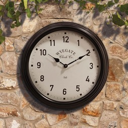 Radio Controlled Garden Wall Clock Black