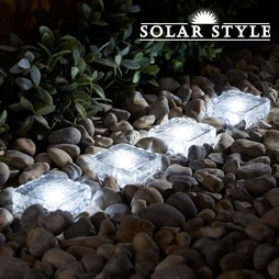Solar Style Set of Four Solar Brick Lights